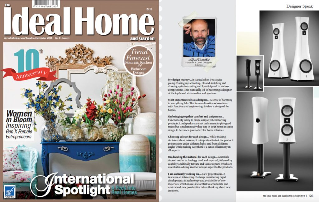 Alfred Featured In Interior Design Magazine The Ideal Home And